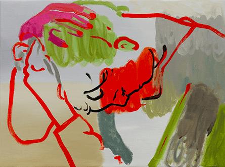 Françoise Pétrovitch, Sans titre, 2017. Huile sur toile - 60x80 cm