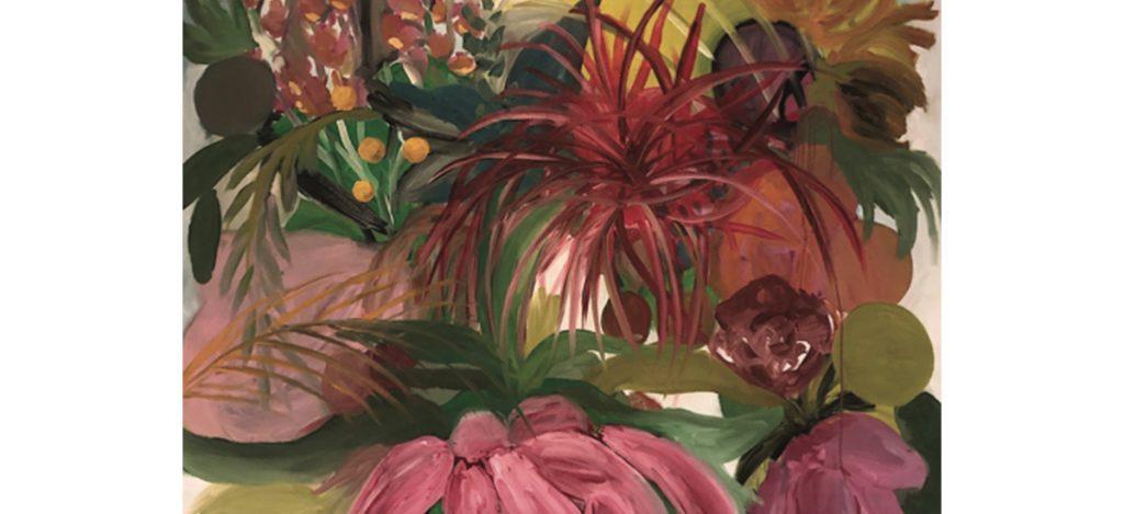 Duda Moraes, Série Tropical 7 (détail) Huile sur toile 185 x 155 cm