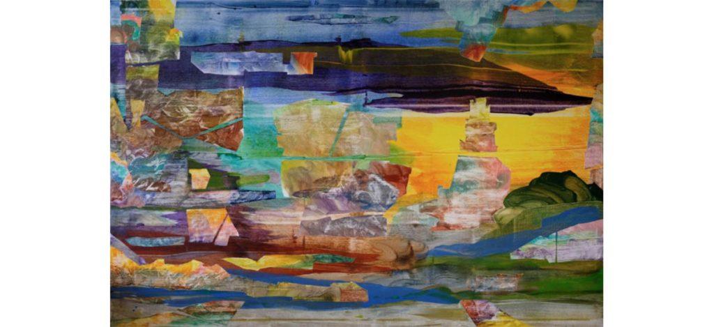 Jade Fenu, Hamlet, 2019. Acrylique sur toile, 200 x 300 cm