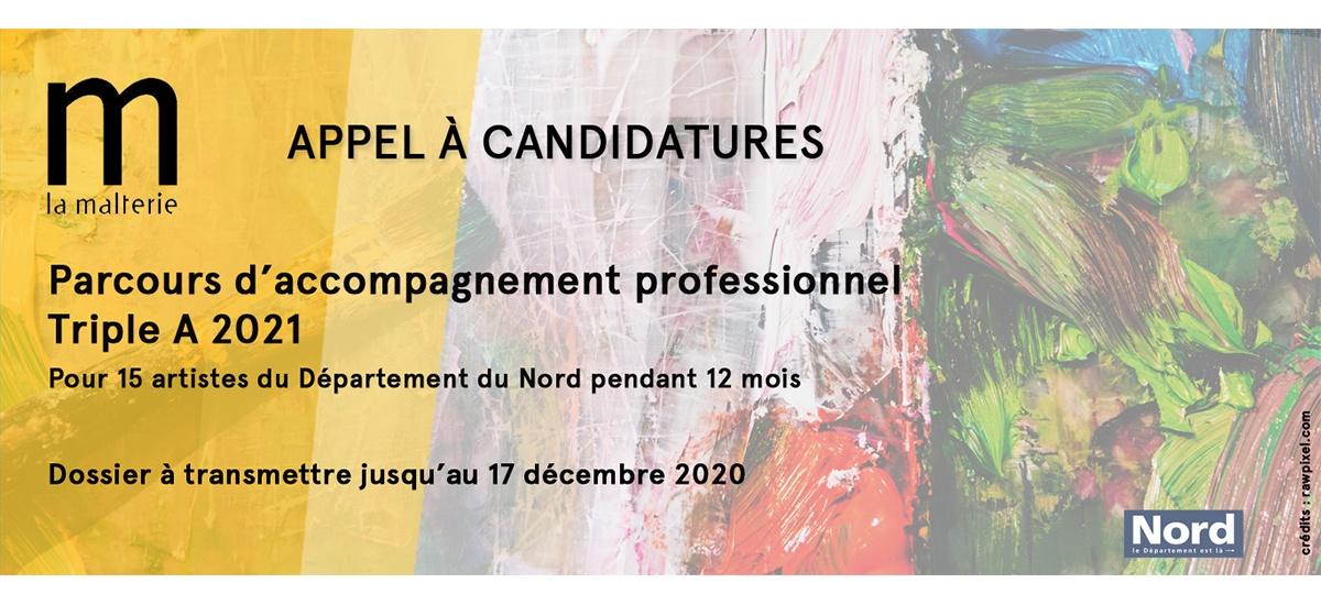 Appel à candidatures Dispositif Triple A 2021