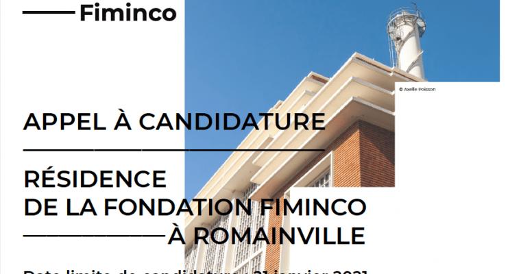 APPEL À CANDIDATURE POUR LA RÉSIDENCE DE LA FONDATION FIMINCO