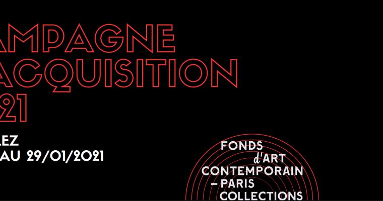 CAMPAGNE D'ACQUISITION 2021 DU FONDS D'ART CONTEMPORAIN – PARIS COLLECTIONS