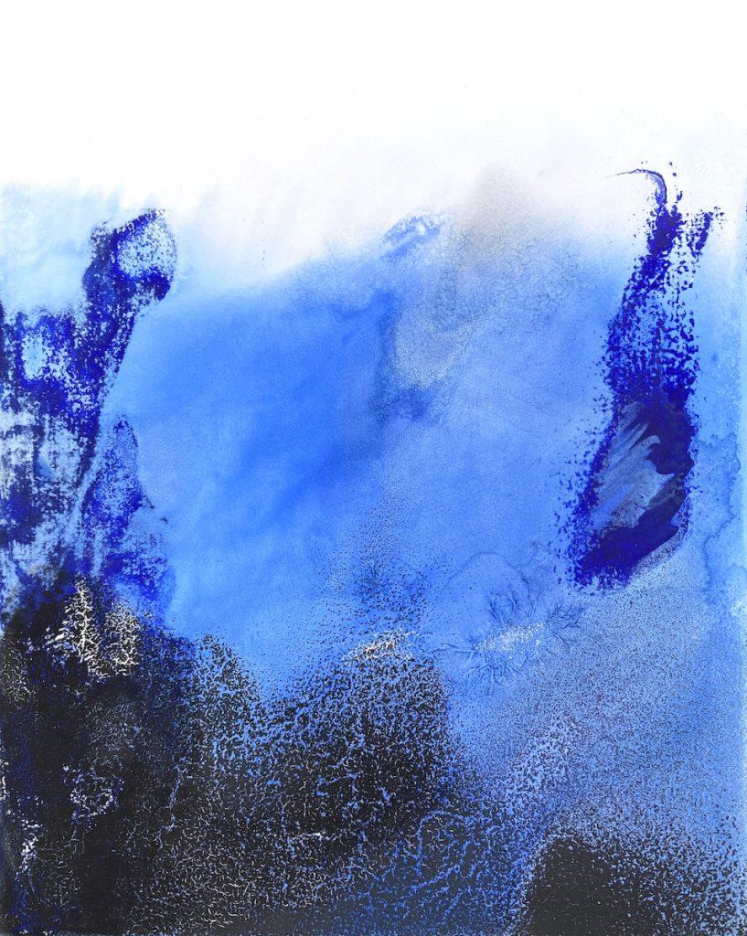 Silvère Jarrosson, Signe paysage (2), 2021. Technique mixte sur toile de lin, 24x30 cm