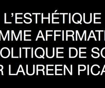 L'ESTHÉTIQUE COMME AFFIRMATION POLITIQUE DE SOI