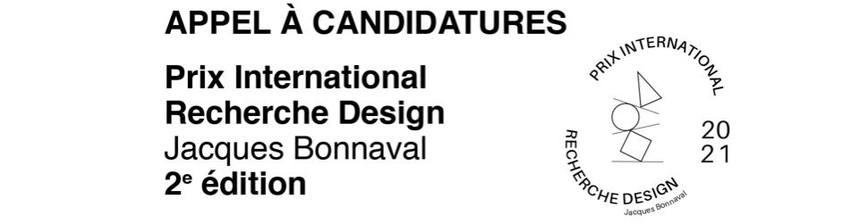 PRIX INTERNATIONAL RECHERCHE DESIGN JACQUES BONNAVAL 2 E ÉDITION